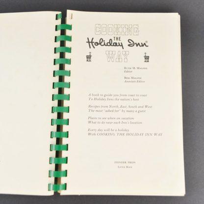 Vintage Holiday Inn Cookbook