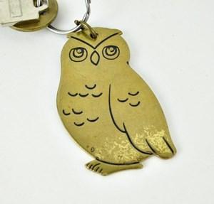 Brass Russ owl keychain