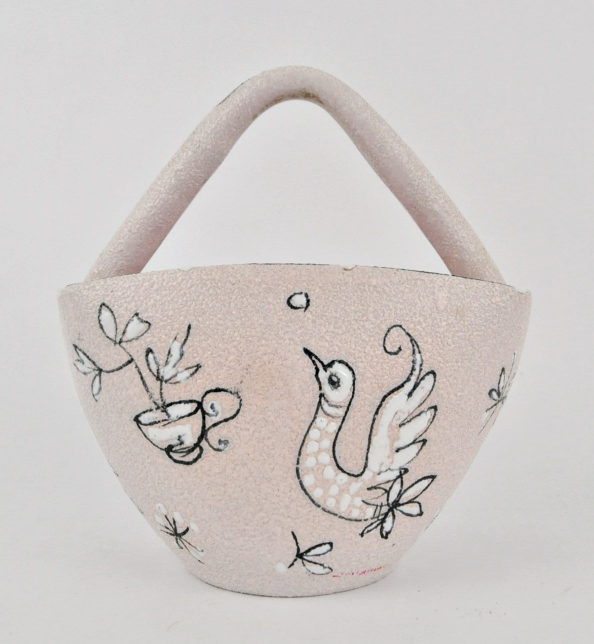 Italian pottery basket
