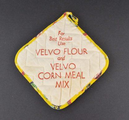 Vintage Velvo Flour advertising potholder