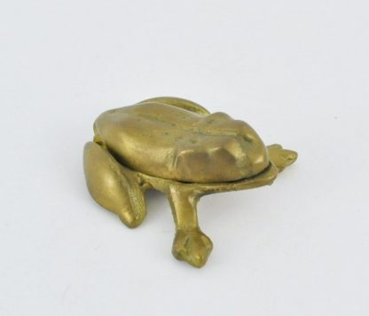 Small hinged brass frog