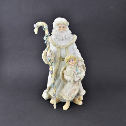 House Of Lloyd Father Christmas and Child - White Robed Santa With Staff