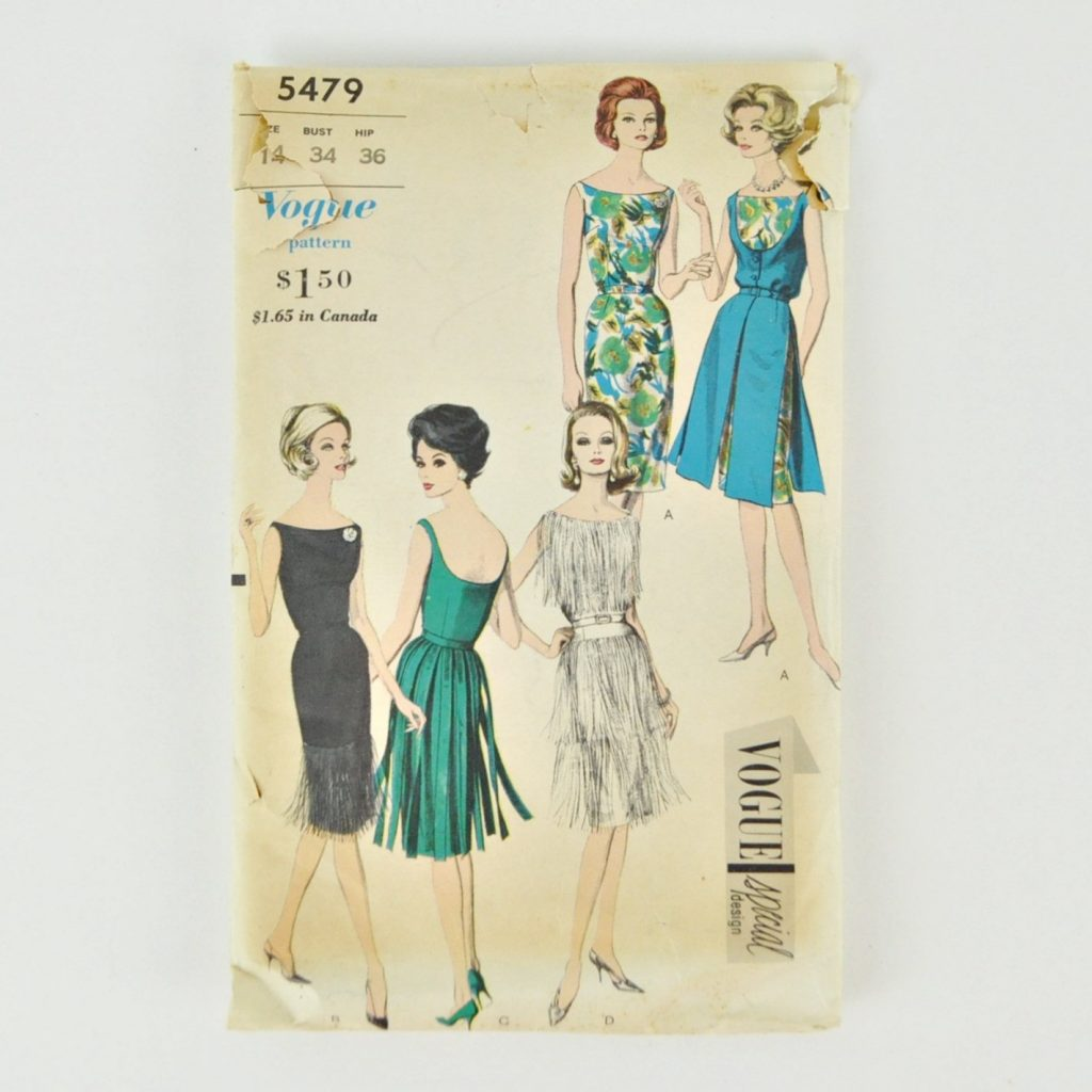 Vintage Vogue Special Design Pattern 5479 – Wiggle Dress For 34″ Bust