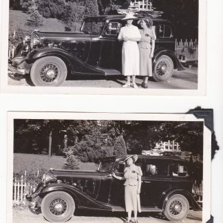 Two original 1930s Cadillac photos