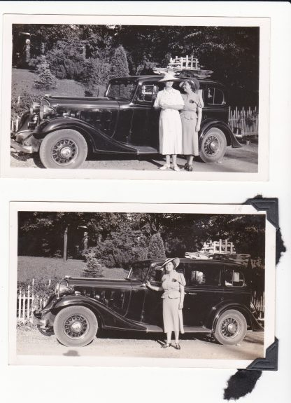 Two original 1930s Cadillac photos