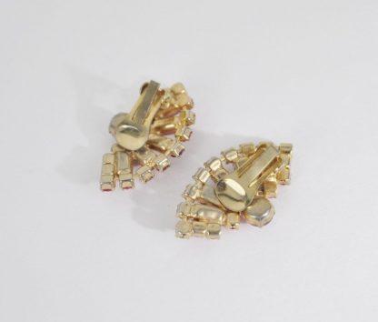 Back of pink moonstone earrings