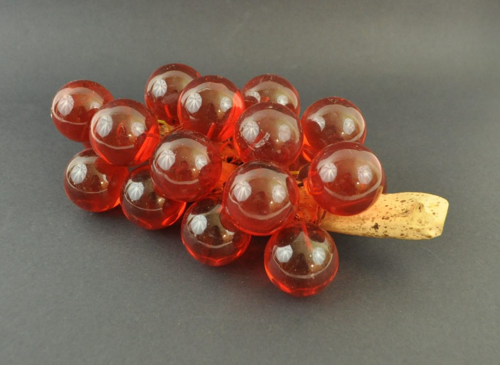 Vintage red Lucite grape cluster