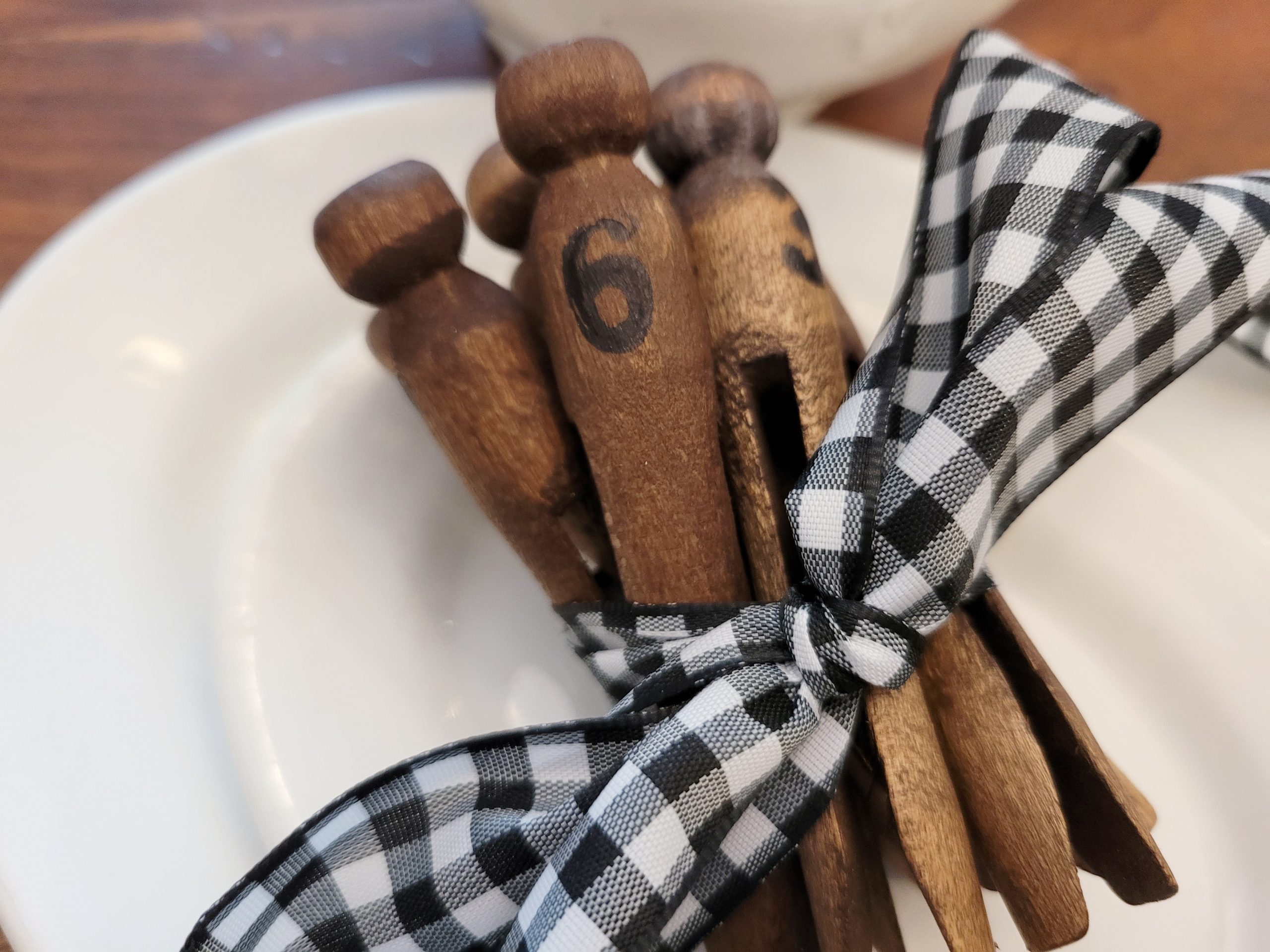 Decorated Clothes Pegs Farmhouse Style