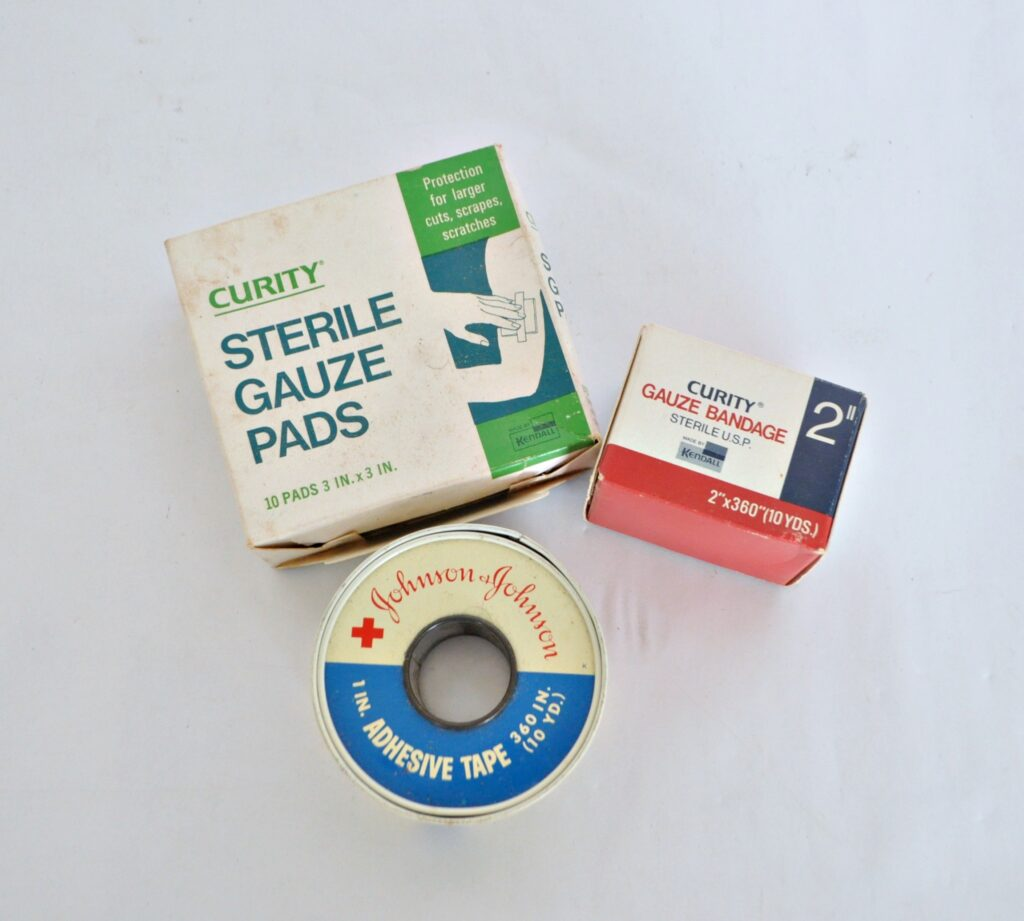 Vintage First Aid Items - Johnson - Curity