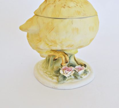 Vintage Lefton Easter Chick Candy Dish