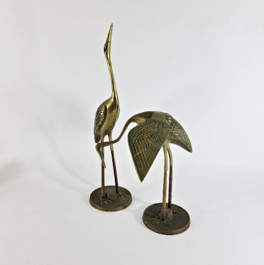 Brass Waterfowl Statues