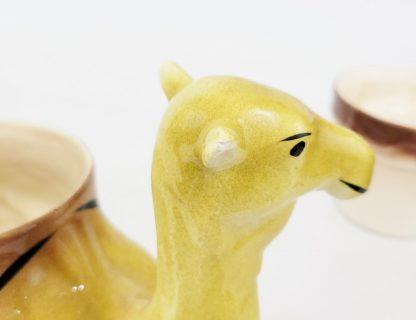 Pottery Camel Planter Chip On Ear